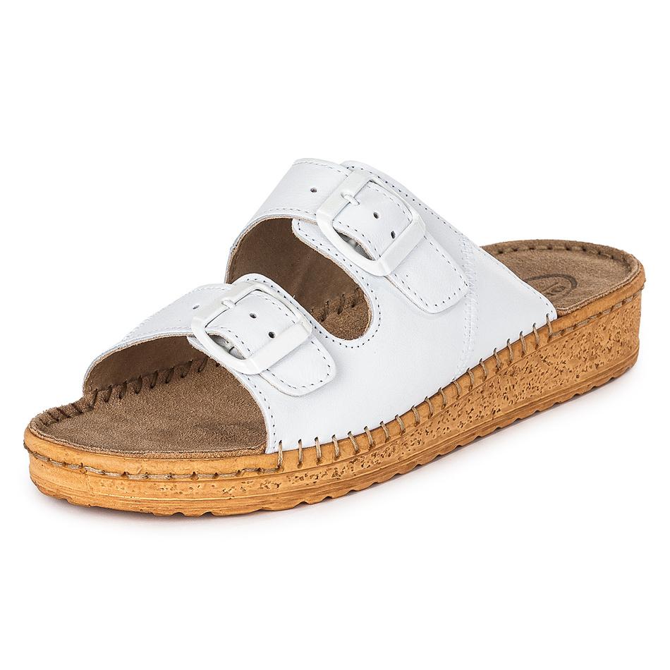Dámske zdravotné papuče, biela, 42