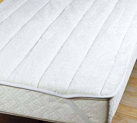 Chránič matrace ovčí rouno, bílá, 80 x 200 cm