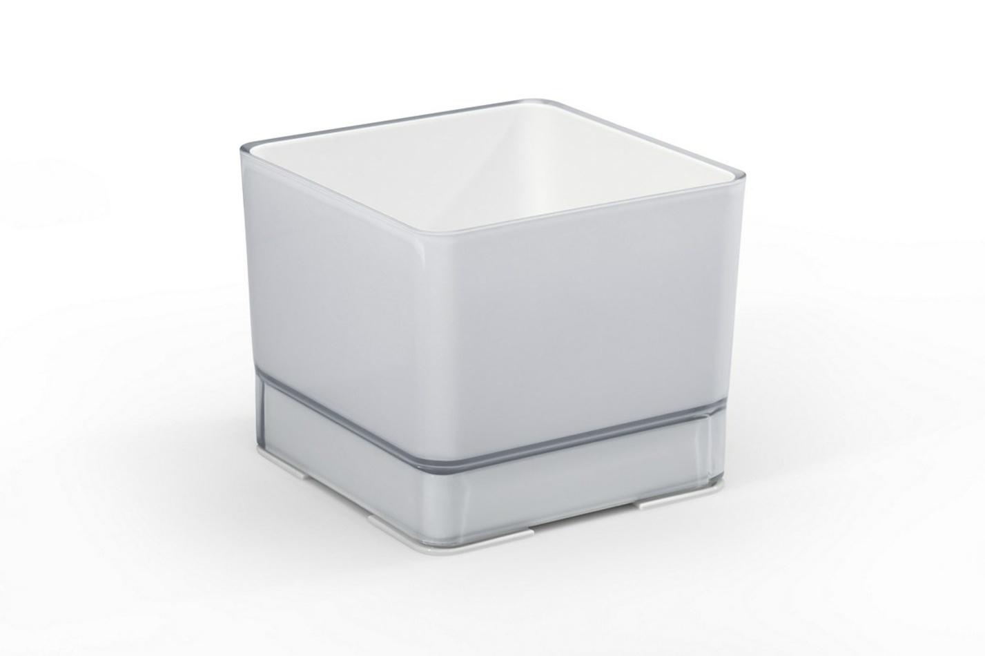 Plastový kvetináč Cube 200 biela