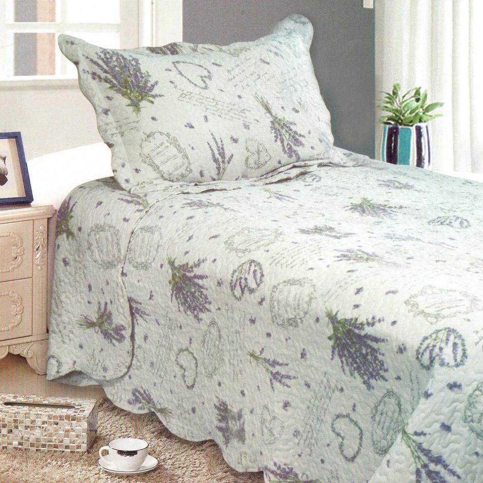 Přehoz na postel Levandule, 140 x 200 cm, 1x 50 x 70 cm