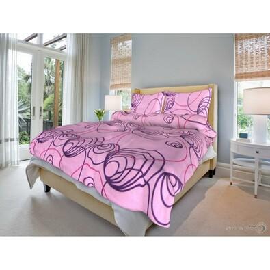 Bavlněné povlečení Simona růžová, 140 x 200 cm, 70 x 90 cm