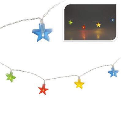 Vánoční osvětlení LED barevné hvězdy