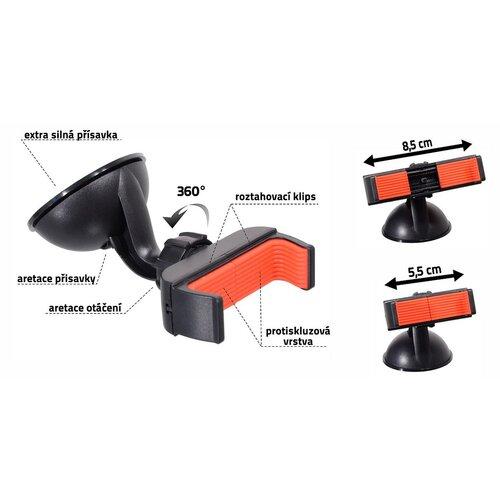 Suport telefon / GPS Compass Side, cu ventuză, negru