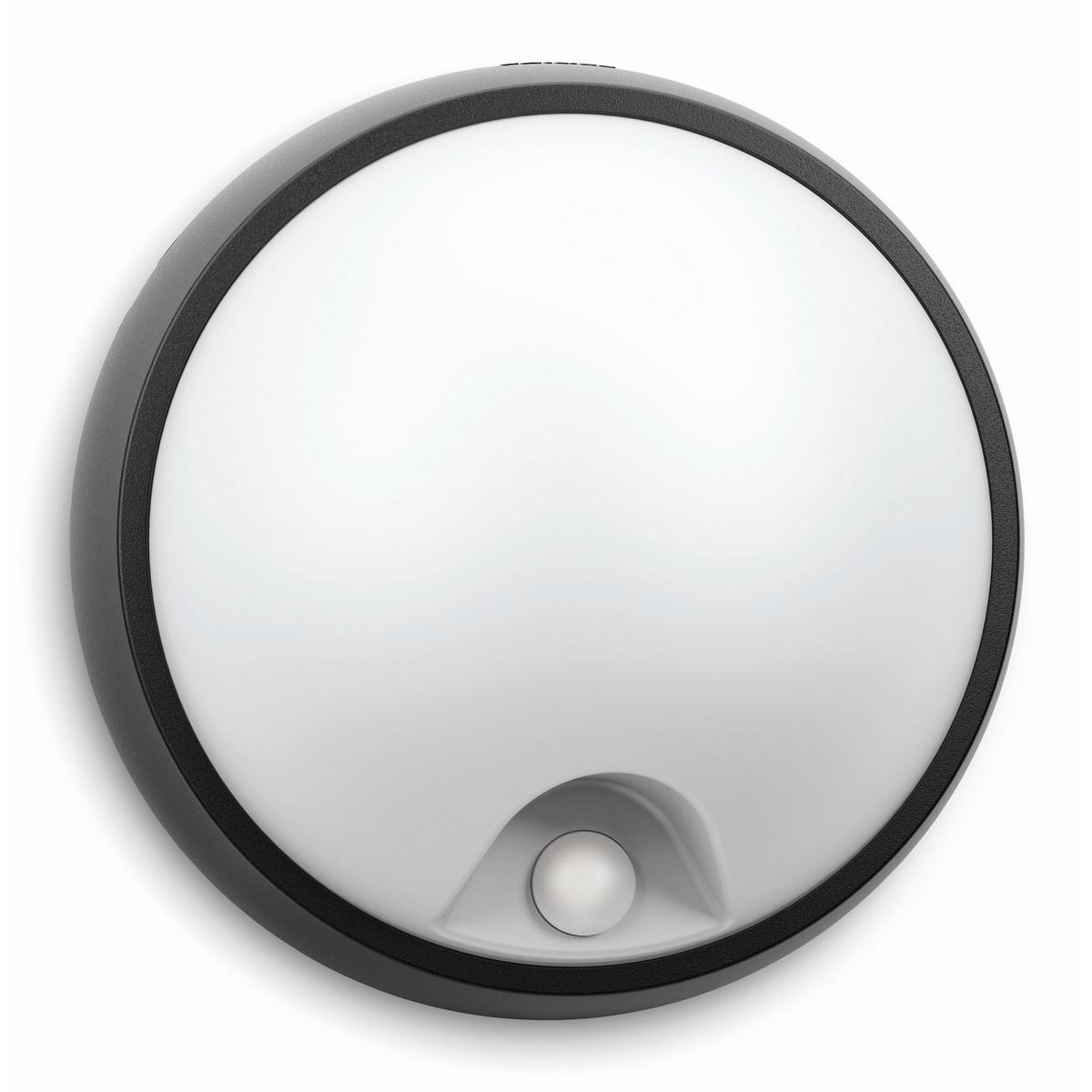 Philips 17318/30/16 Eagle Venkovní nástěnné LED svítidlo s čidlem 17 cm, černá