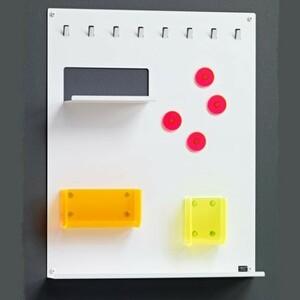 Organizér Keywall na klíče s magnetickou tabulí, bílý