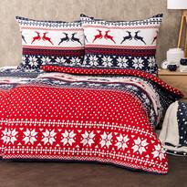 4Home Flanelové vánoční povlečení Blue Nordic