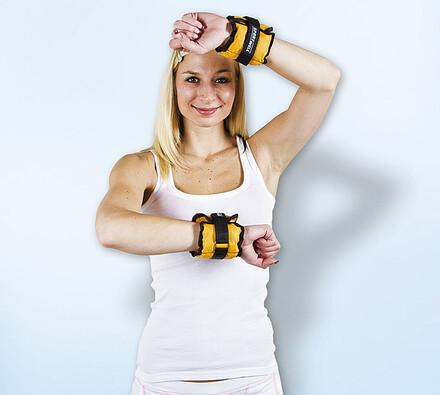 Zátěžový pás na ruce, žlutá