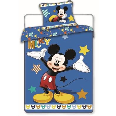 Mickey stars pamut ágyneműhuzat, 140 x 200 cm, 70 x 90 cm