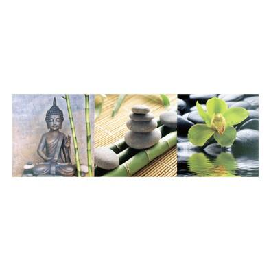 Třídílný obraz Buddha