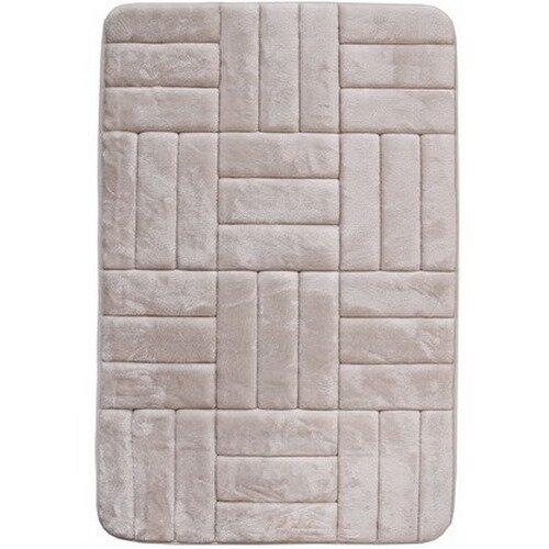 VOPI Kúpeľňová predložka s pamäťovou penou Štvorce krémová 40 x 50 cm