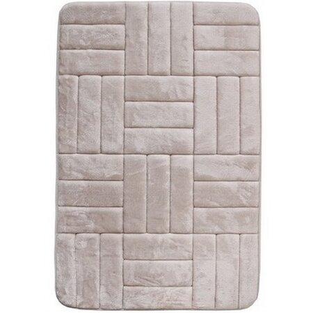 Kúpeľňová predložka s pamäťovou penou Štvorce krémová, 40 x 50 cm