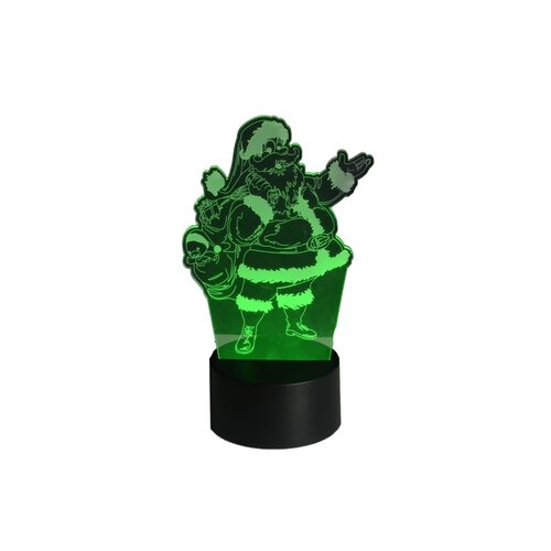 3D LED lampa Santa Claus