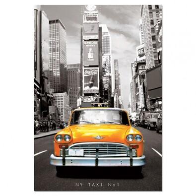 Puzzle Taxi, New York, černá + žlutá