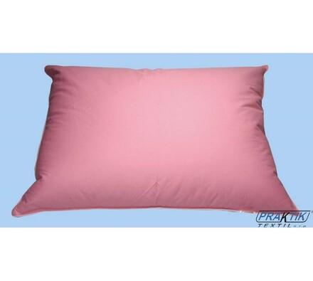 Polštář poloprachové peří, 70 x 90 cm, růžová, růžová, 50 x 70 cm