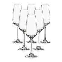 Crystalex Set 6 pahare pentru șampanie GISELLE, 190 ml