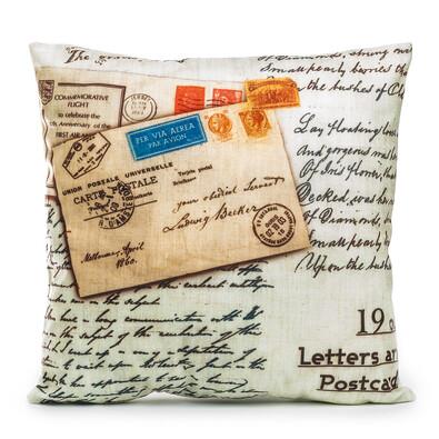 Povlak na polštářek Letters Postcard, 45 x 45 cm