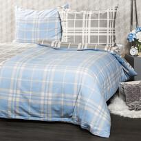 Lenjerie de pat din flanelă 4Home, Cub albastru, 220 x 200 cm, 2 buc. 70 x 90 cm