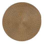 Prostírání Deco kulaté světle hnědá, pr. 35 cm, sada 4 ks