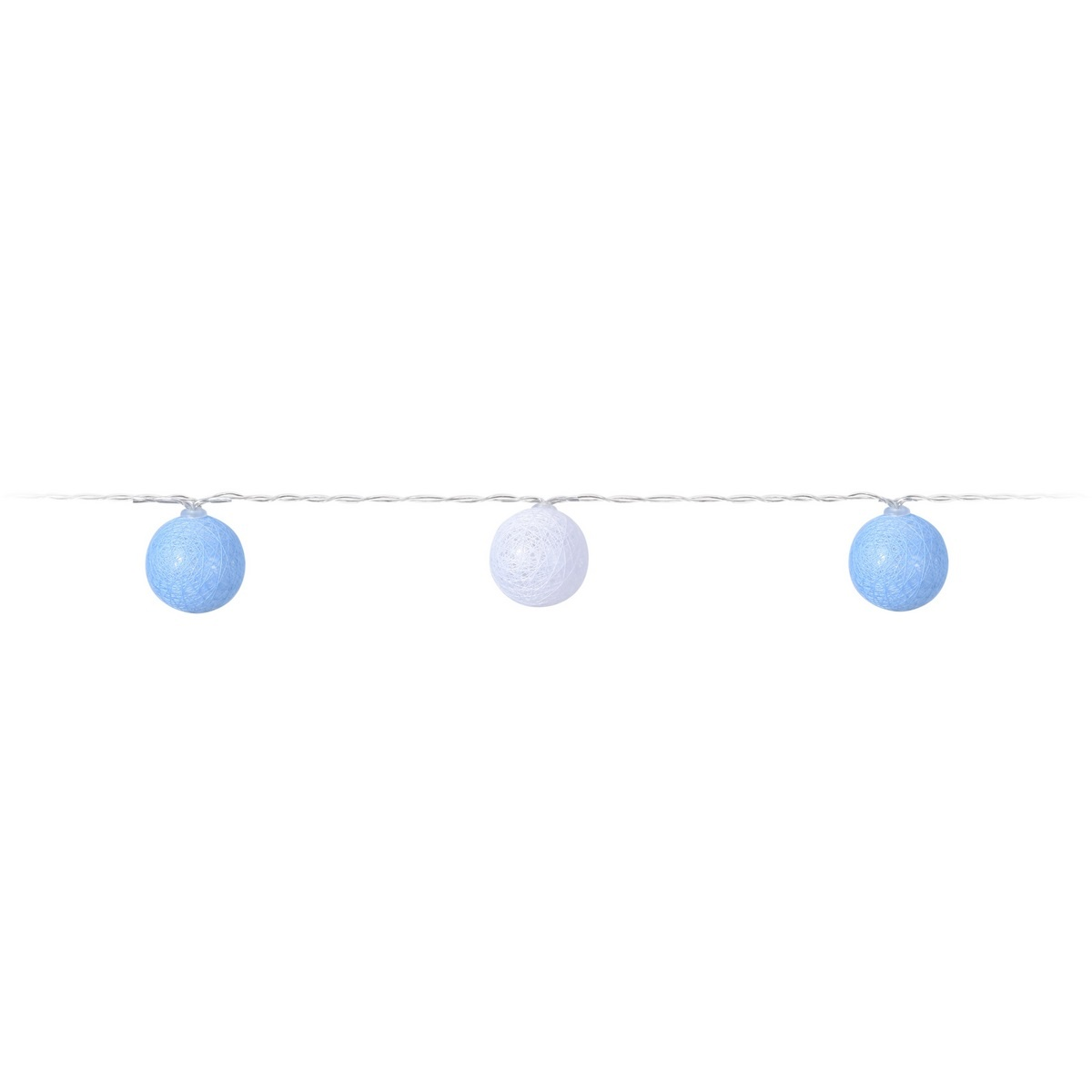 Dekoracyjny łańcuch LED Pastels niebieski, 10 LED