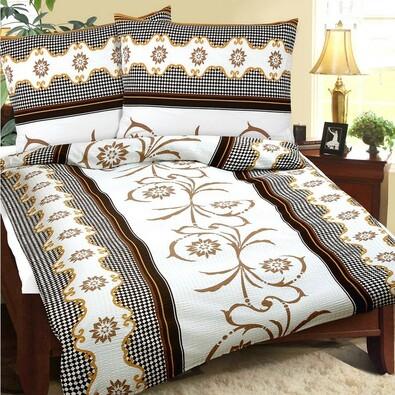 Lenjerie pat 1 pers. Visul bej, creponată, 140 x 220 cm, 70 x 90 cm