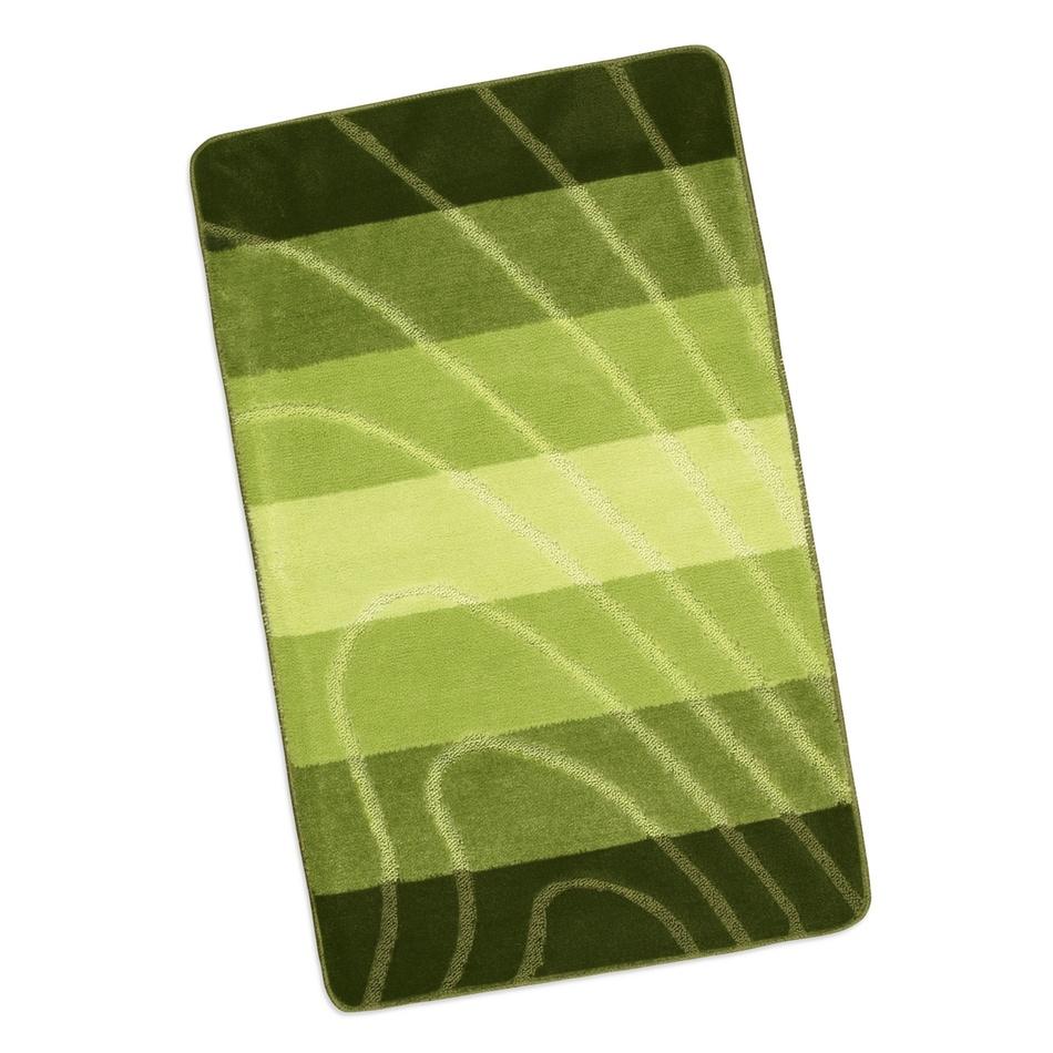 Bellatex Kúpeľňová predložka Elli Zelená vlna, 60 x 100 cm