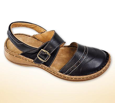 Dámská obuv s přezkou, černá, 41