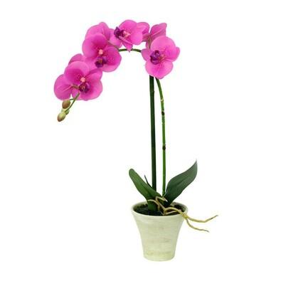 Umělá orchidea růžová, 44,5 cm