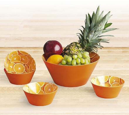 5 dílná sada salátových misek Orange, oranžová