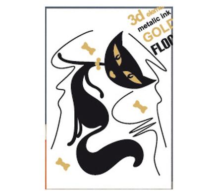 Samolepící dekorace Ležící kočka