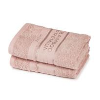 4Home Bamboo Premium törölköző, rózsaszín, 30 x 50 cm, 2 db-os szett