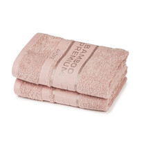 4Home Ručník Bamboo Premium růžová, 30 x 50 cm, sada 2 ks