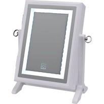 Cutie de bijuterii, cu oglindă LED, alb