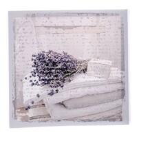 Tablou pe pânză Lavender blanket, 28 x 28 cm