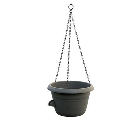 Samozavlažovací závěsný květináč 30 cm, černá