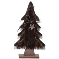 Vianočná dekorácia Hairy tree tmavohnedá, 41 cm