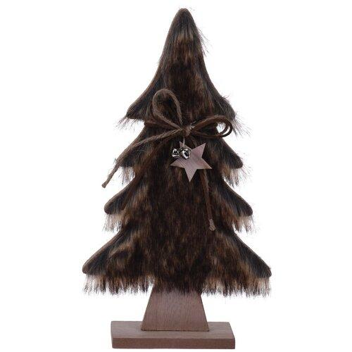 Hairy tree karácsonyi dekoráció,  sötétbarna, 41 cm