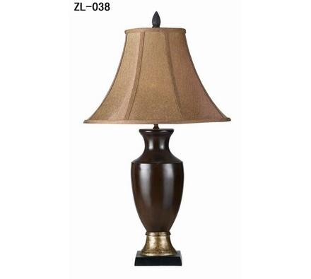 Stolní lampa velká ZL-038 hnědá výška 73, tmavě hnědá, pr. 44 x 73 cm