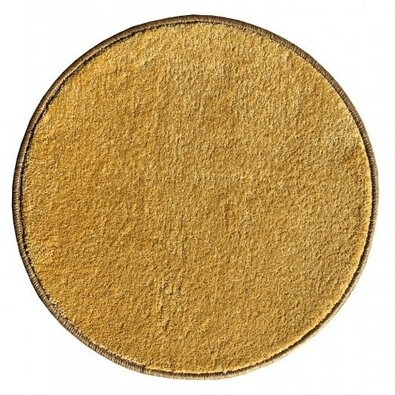 Kusový koberec Eton lux žlutá, průměr 80 cm