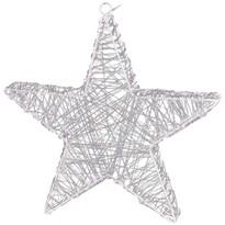 Karácsonyi csillag Savona ezüst, 30 LED