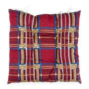 Sedák s kostičkami červená, 40 x 40 cm