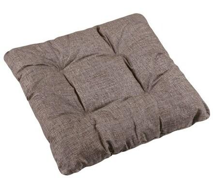 Sedák Adéla UNI hnedá, 40 x 40 cm, súprava 2 ks