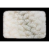 Covoraș din spumă cu memorie Domarex Ginkgo, alb-auriu, 38 x 58 cm