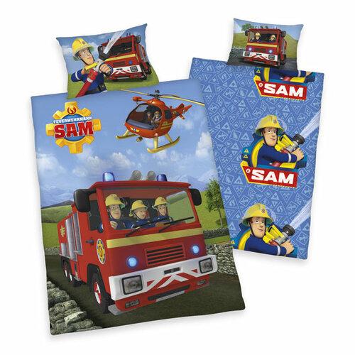 Herding Dětské bavlněné povlečení Požárník Sam v akci, 140 x 200 cm, 70 x 90 cm