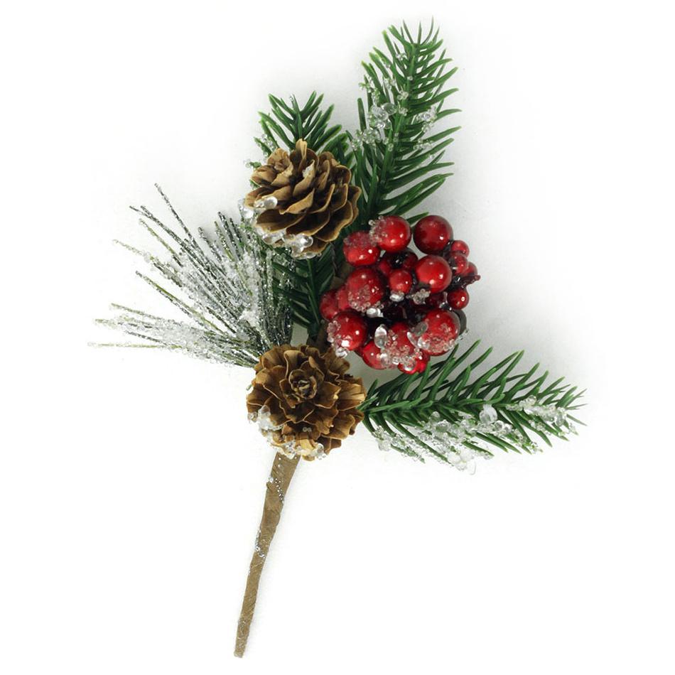 Autronic Větvička vánoční ojíněná , umělá dekorace PRZ3206