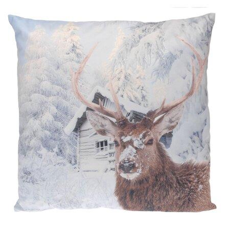 Dekoračný vankúšik Snow Deer, 45 x 45 cm