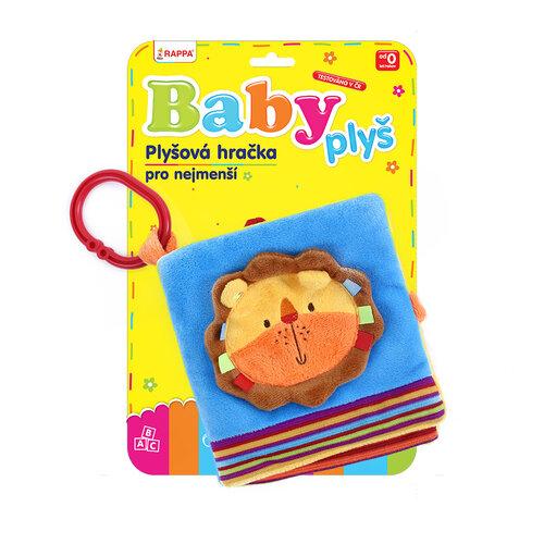 Baby Kniha plyšová Lev s klipom