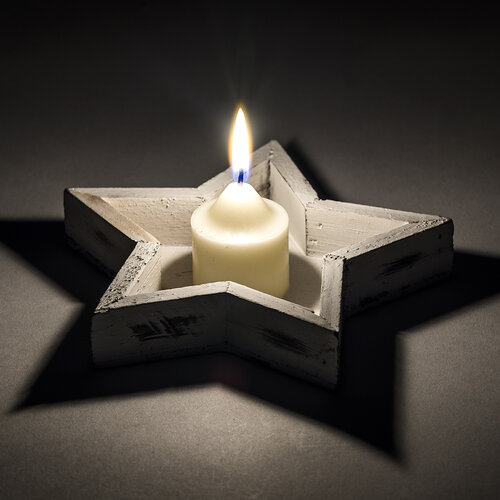 Świecznik gwiazda drewniana