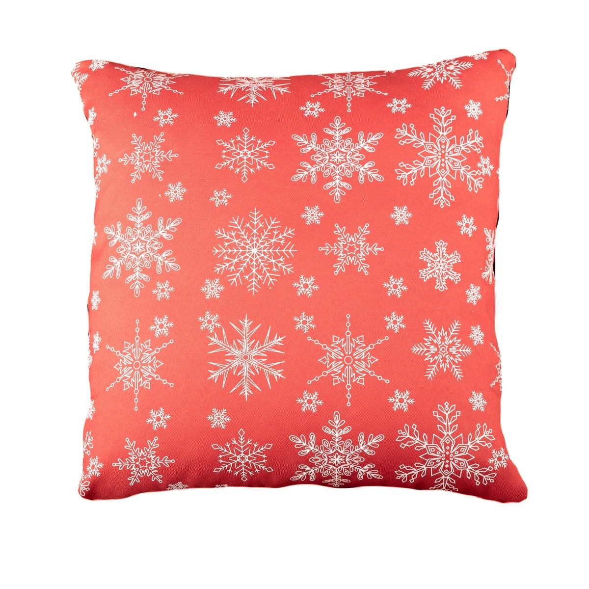 Dakls Vánoční povlak Vločka červená, 40 x 40 cm