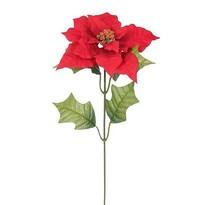 Umělá Poinsettie červená, 51 cm