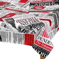 Față de masă Ema Ziare roșu